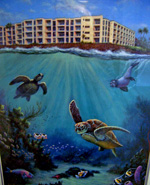 Kuhio Shores Painting by Geoff Markovich